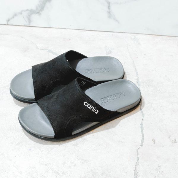 CANIA คาเนีย รองเท้าแตะลำลองชาย รุ่น CM12112 - สีดำเทา Size 40-44