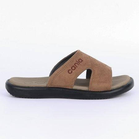 CANIA คาเนีย รองเท้าแตะลำลองชาย รุ่น CN52049 - สีแทน Size 40-44