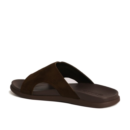 CANIA คาเนีย รองเท้าแตะลำลองชาย รุ่น CM12112 - น้ำตาลเข้ม Size 40-44