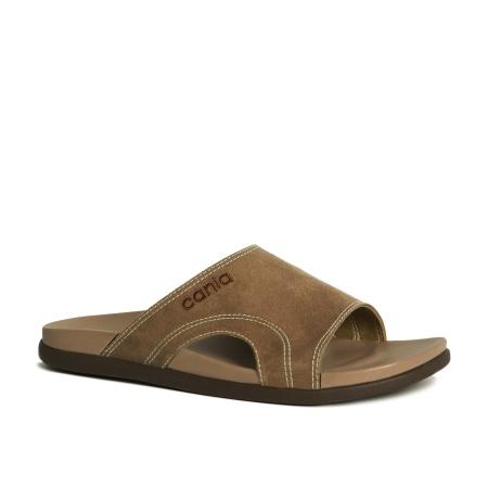 CANIA คาเนีย รองเท้าแตะลำลองชาย รุ่น CM12112 - สีน้ำตาลอ่อน Size 40-44