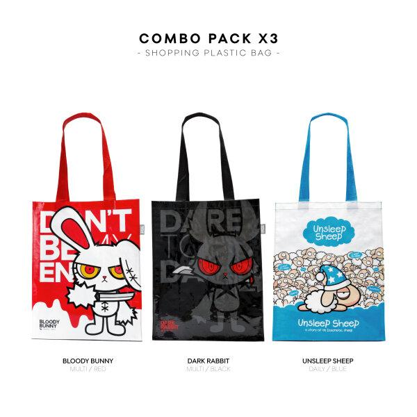 GIFT SET: BLOODY BUNNY SHOPPING BAG X3