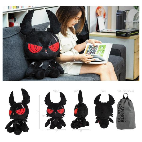 DARK RABBIT PLUSH DOLL 20""