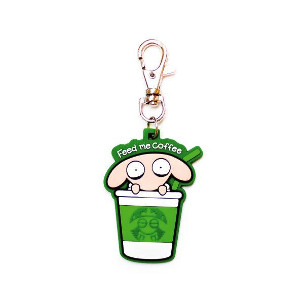 UNSLEEP SHEEP RUBBER KEYCHAIN (STARBUCKS)