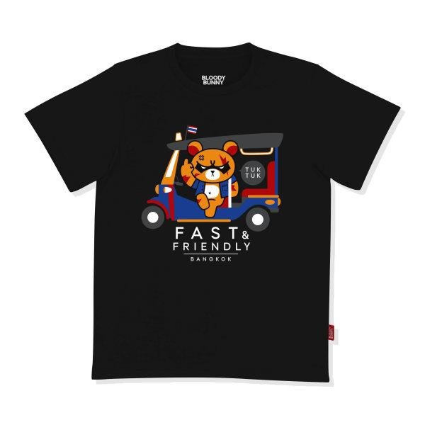 SERIOUS KUMA (TUK-TUK / BLACK) T-SHIRT