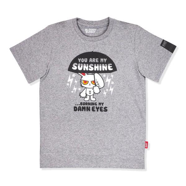 BLOODY BUNNY (SUNSHINE) GRAY T-SHIRT
