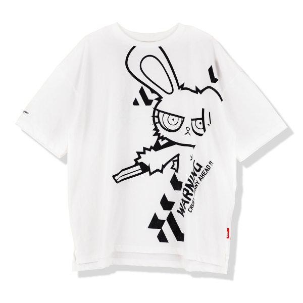 BLOODY BUNNY OVERSIZED T-SHIRT (PRINT-BLACK)