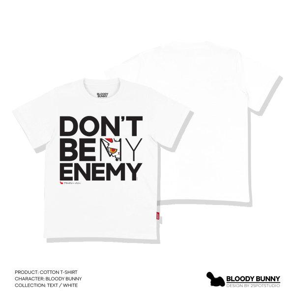 BLOODY BUNNY(TEXT / WHITE) T-SHIRT