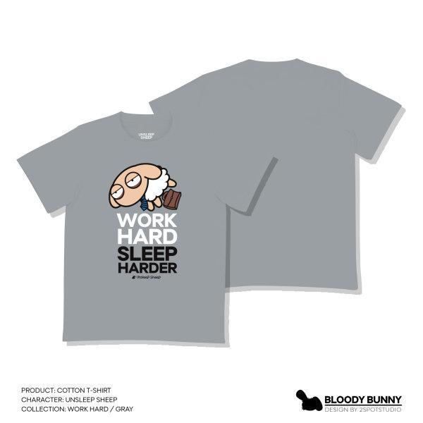 UNSLEEP SHEEP (WORKHARD / GRAY) T-SHIRT
