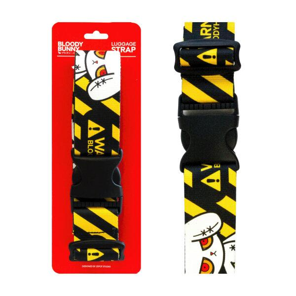 BLOODY BUNNY LUGGAGE STRAP (WARNING/YELLOW)