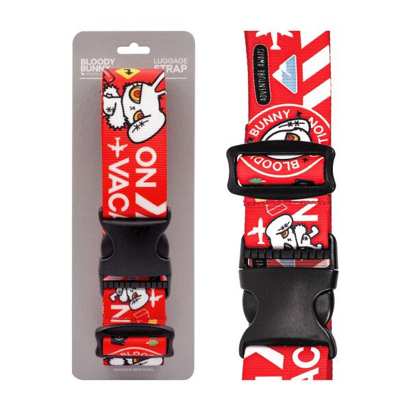 BLOODY BUNNY LUGGAGE STRAP (TRAVEL/RED)