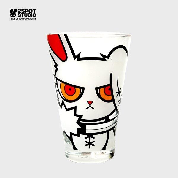BLOODY BUNNY WATER GLASS