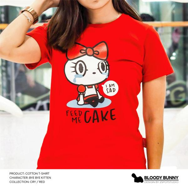 BYE BYE KITTEN(CRY / RED) T-SHIRT