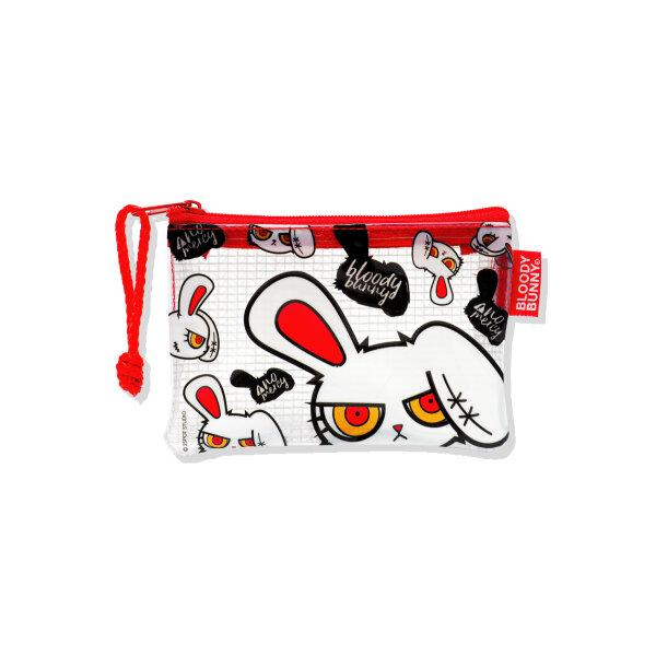 BLOODY BUNNY COIN PVC BAG (MULTI/WHITE)