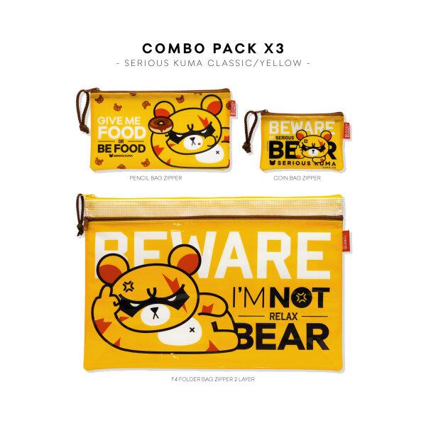 SET: SERIOUS KUMA PVC BAG (CLASSIC/YELLOW) COMBO PACK