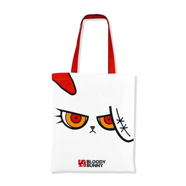 BLOODY BUNNY TOTE BAG (FACE / WHITE)
