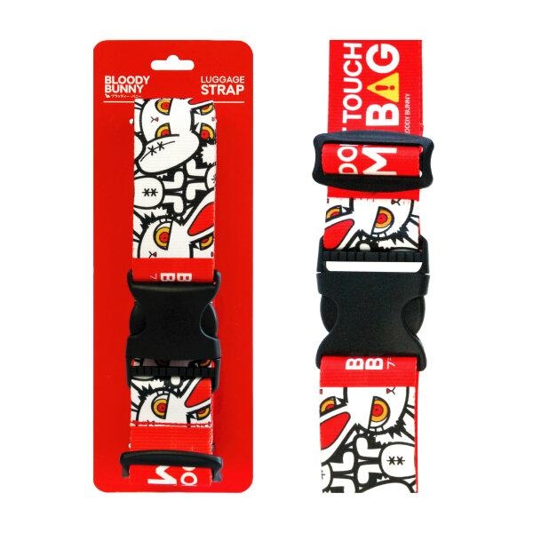 BLOODY BUNNY LUGGAGE STRAP (MULTI/RED)