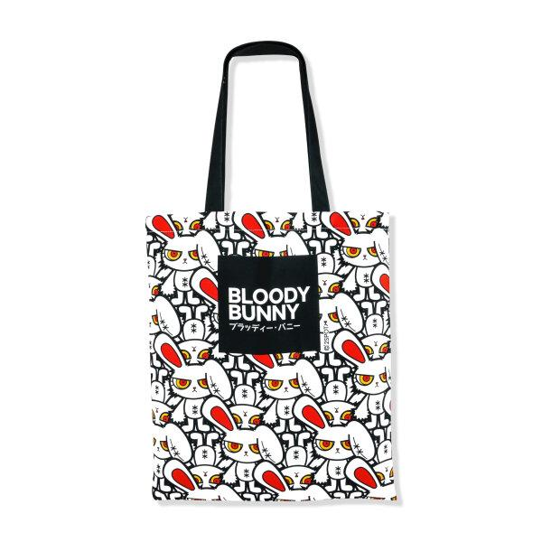 BLOODY BUNNY TOTE BAG (MULTI / WHITE)