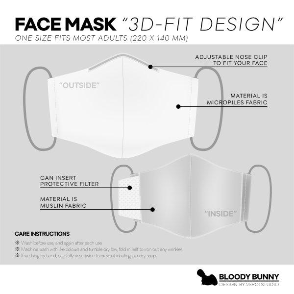 BLOODY BUNNY FACE MASK V.2 (NAVER GIVE UP / YELLOW)