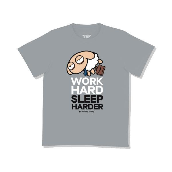 UNSLEEP SHEEP (WORKHARD / GRAY) T-SHIRT