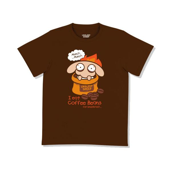 UNSLEEP SHEEP (COFFEE BEANS / BROWN) T-SHIRT