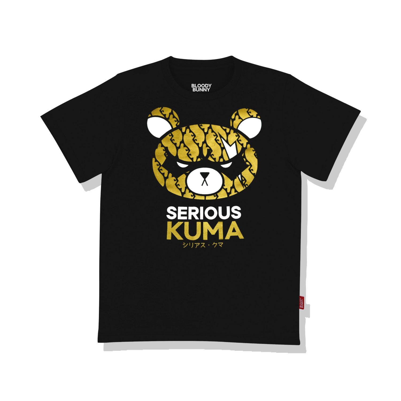 SERIOUS KUMA(GOLD / BLACK) T-SHIRT