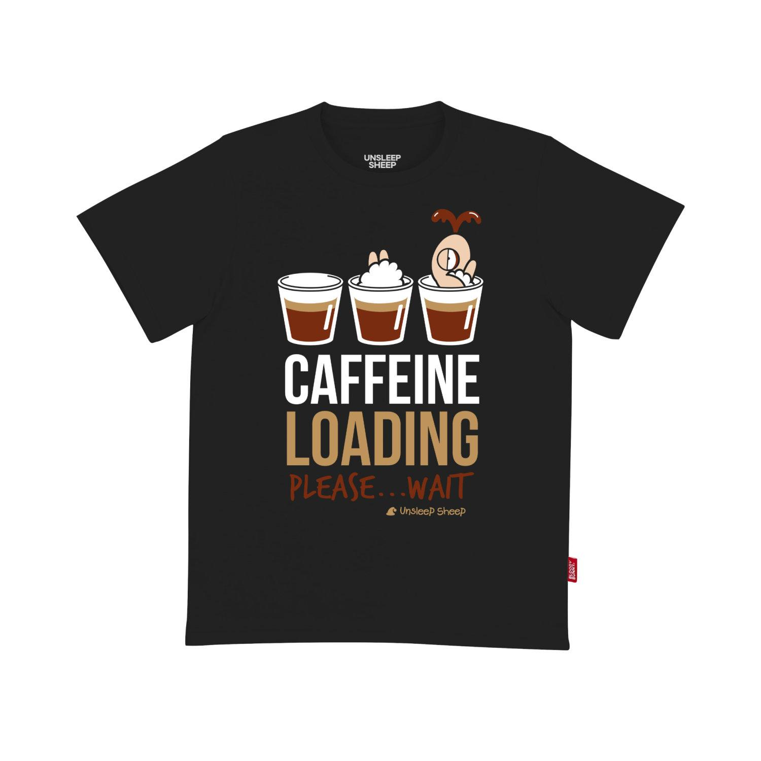 UNSLEEP SHEEP (CAFFEINE / BLACK) T-SHIRT