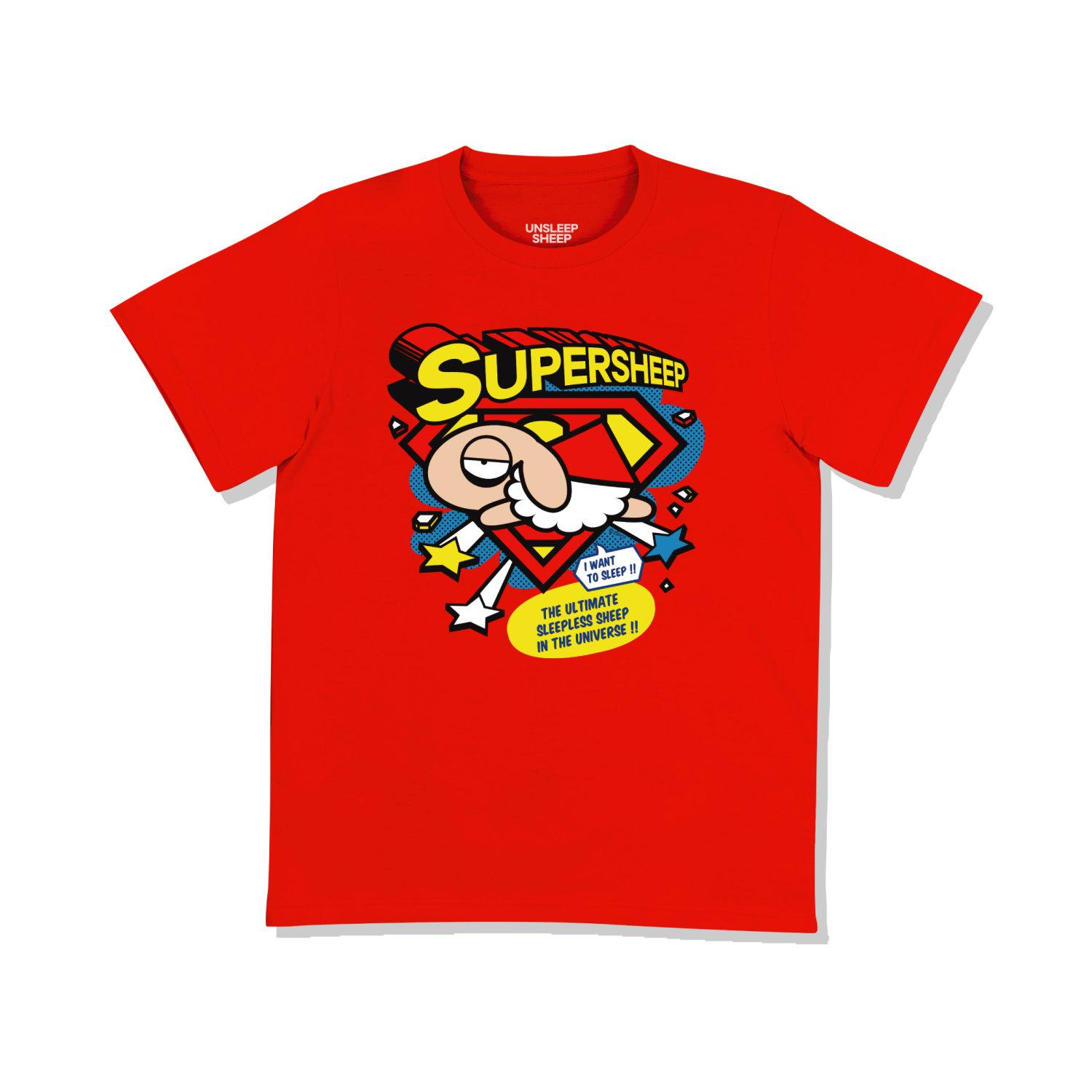 UNSLEEP SHEEP (SUPER SHEEP / RED) T-SHIRT