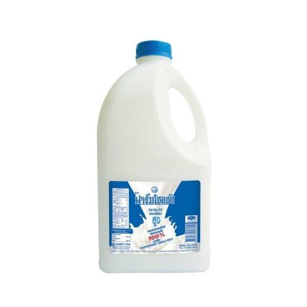 Chokchai Pasteurized Plain Milk 2 L ฟาร์มโชคชัย นมพาสเจอร์ไรซ์ รสจืด 2 ลิตร