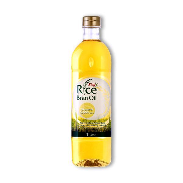 King Rice Bran Oil Oryzanol 5,000 ppm. 1 Liter คิง น้ำมันรำข้าว 1 ลิตร