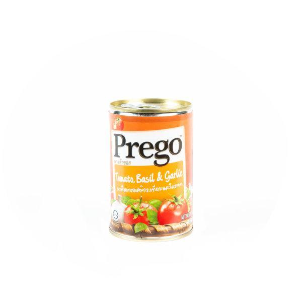 Prego TOMATO BASIL&GARLIC 300 g x1 pc พรีโก้ พาสต้าซอสมะเขือเทศผสมโหระพา+กระเทียม 300 กรัม