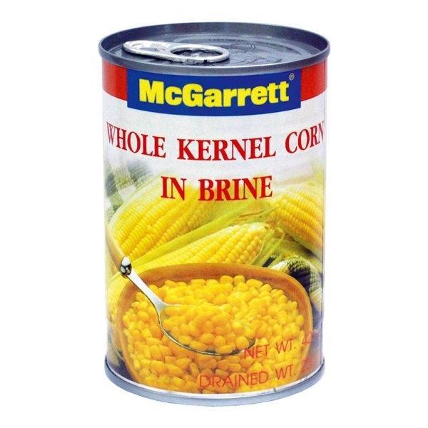 MCCARRETT WHOLE KERNEL CORN425G แม็กกาแรต เม็ดข้าวโพดในน้ำเกลือ 425 กรัม
