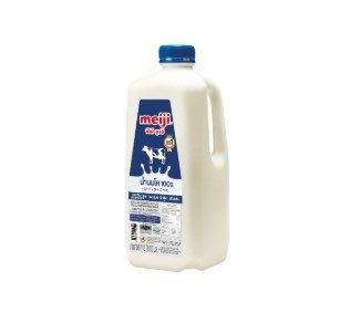 Meiji Pasteurized Fresh Milk 2000 ml เมจิ นมพาสเจอร์ไรซ์ รสจืด 2000 มล.