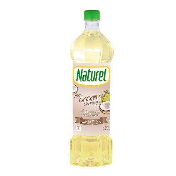 Naturel Coconut Oil 1 Liter เนเชอเรล น้ำมันมะพร้าวสำหรับปรุงอาหาร100% 1 ลิตร