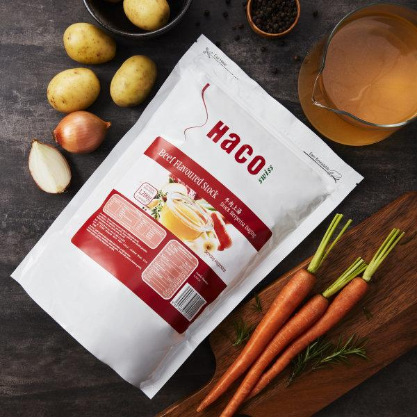 HACO BEEF FLAVOURED STOCK ผงทำน้ำสต็อกเนื้อ 1200 G.