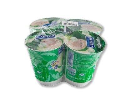 Dutchie Yogurt 0% Fat Yogurt With Coconut Jelly 135 g X 4 cups ดัชชี่ โยเกิร์ต ไขมัน 0% ผสมวุ้นมะพร้าว 135 กรัม x 4 ถ้วย