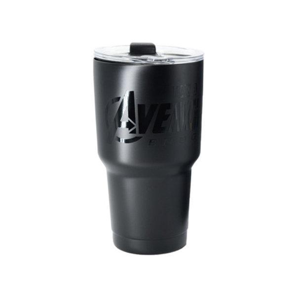 Avengers Endgame Stainless Vacuum Tumbler, Avengers Logo, Black