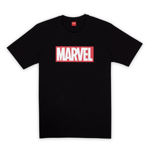 Classic Marvel Red Block Logo T-shirt