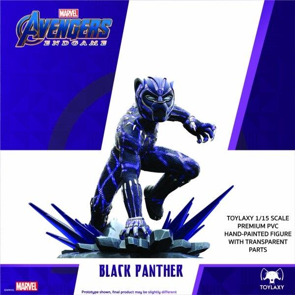 "[Pre Order 1/2] Black Panther ""Avengers Endgame"" Wakanda Forever Limited Edition ( Figure + Limited Edition T- Shirt )"