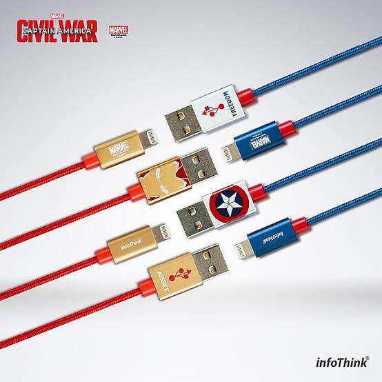 MARVEL, INFOTHINK, iPhone Cable, Civil War, Captain America