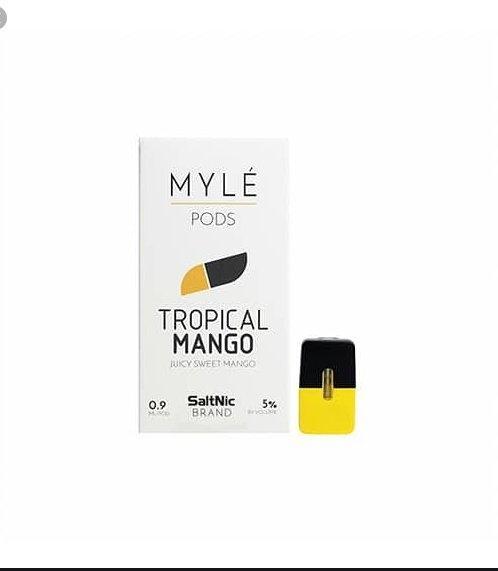 Myle Pods Tropical Mango 50mg ไม่เย็น/1ชิ้น