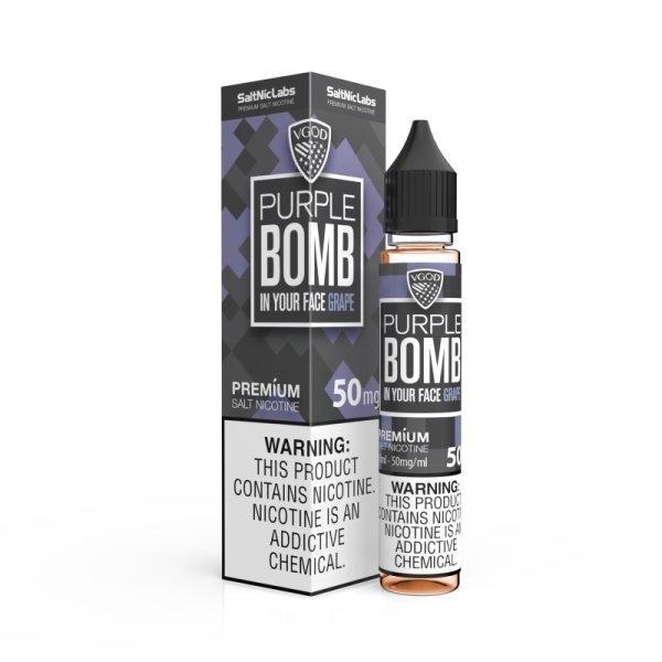 [น้ำยา POD Salt Nic USA] VGOD ICED PURPLE BOMB 30ml Nic50 เย็น