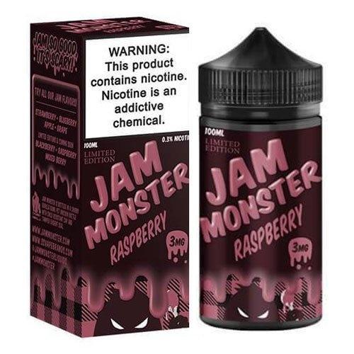 น้ำยาบุหรี่ไฟฟ้าอเมริกา Jam Monster Raspberry (สีชมพู) 100ml Nic3 (ไม่เย็น)