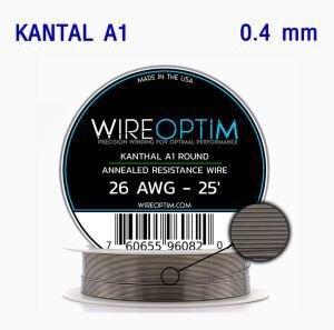 * ลวดม้วน WIREOPTIM Kanthal A1 0.4mm 26awg 25ft/ม้วน