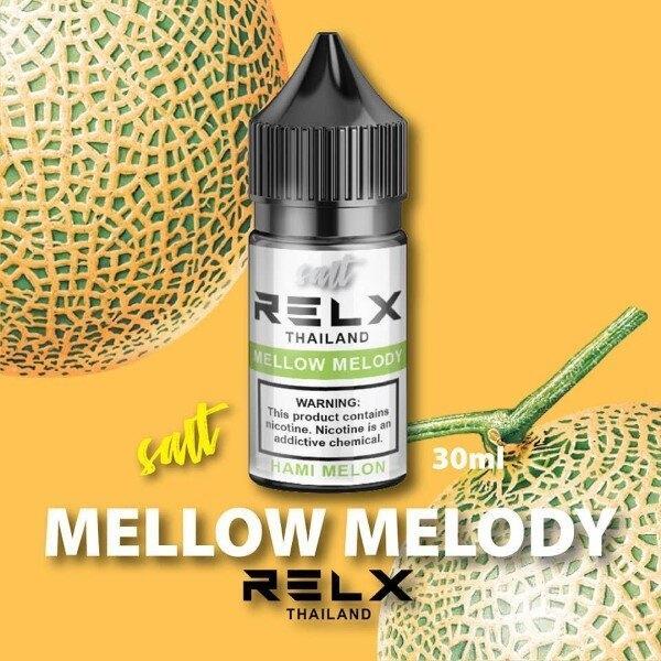 F [น้ำยาบุหรี่ไฟฟ้า POD] Relxs Salt Mellow Melody (เมล่อน) 30ml 24mg [เย็น]