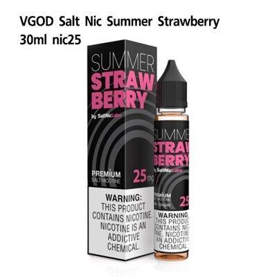 F VGOD Summer Strawberry Salt Nic25 30ml ไม่เย็น[น้ำยา POD Salt Nic USA]