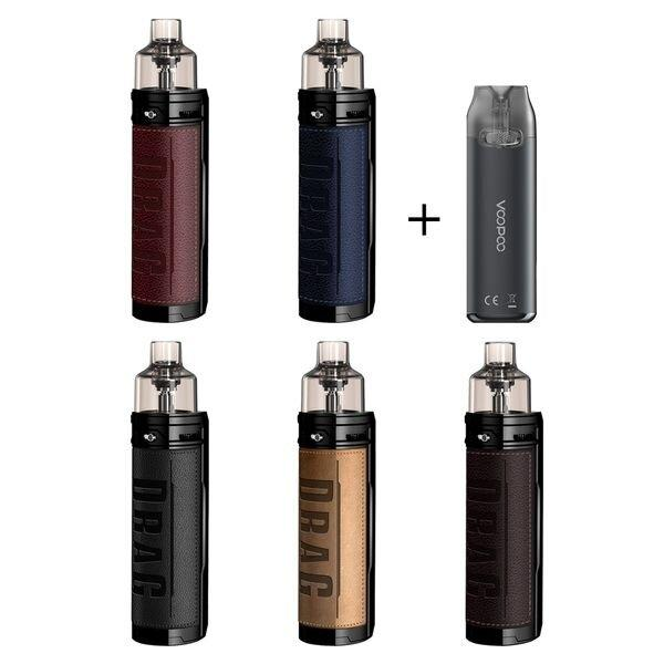 F VOOPOO DRAG X+VMATE Pod Kit (Retro) [แท้] [บุหรี่ไฟฟ้าพอด] ใช้ถ่าน1ก้อนซื้อแยก