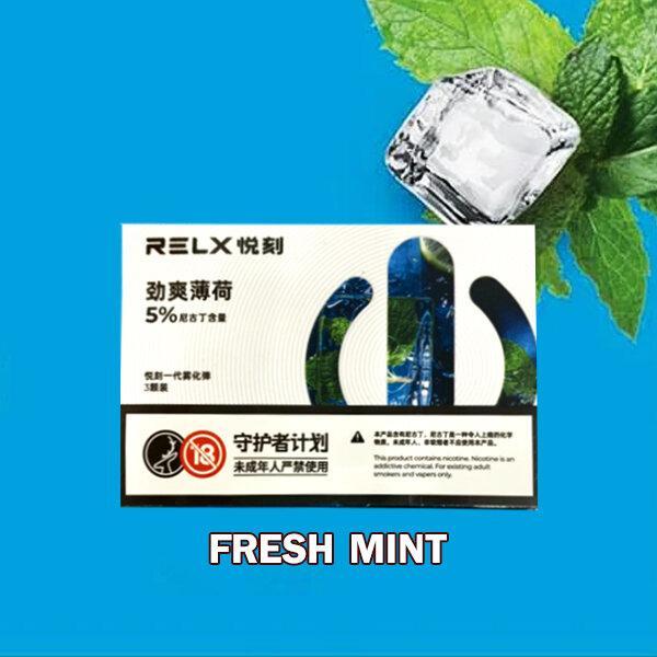 *RELX Pod-MINT มิ้นท์ Nic50 จีน[1กล่องมี3ชิ้น]