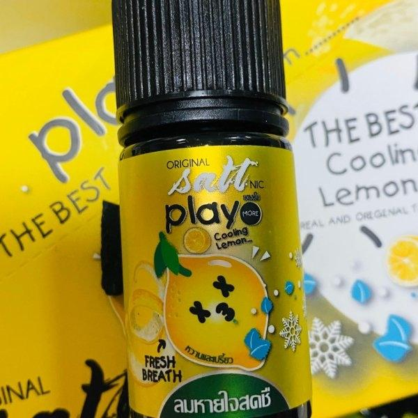 [น้ำยา POD SALT NIC ] PLAY MORE-LEMON 30ml NIC30 เย็น