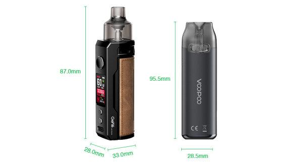 F VOOPOO DRAG X+VMATE Pod Kit (Chestnut) [แท้] [บุหรี่ไฟฟ้าพอด] ใช้ถ่าน1ก้อนซื้อแยก