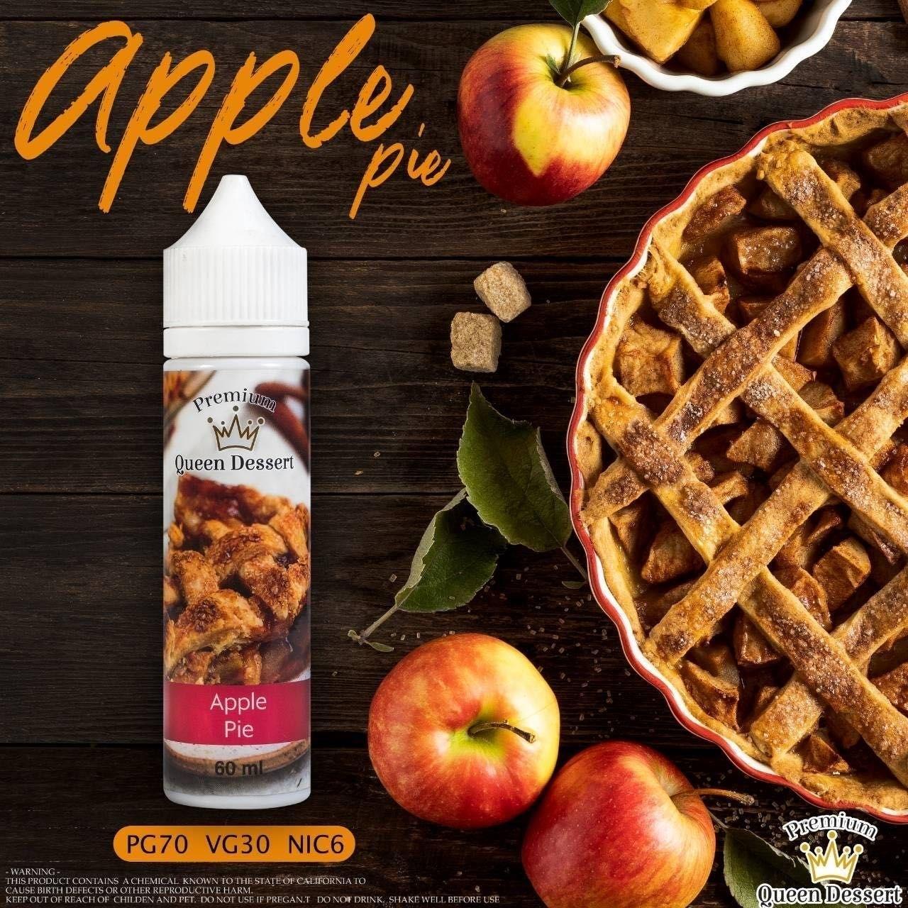 น้ำยามาเลเซีย Queen Dessert Apple Pie 60ml 6mg ไม่เย็น